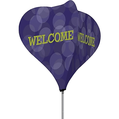 Metrix™ Acai 8' The Twizla™ 4 Sided Advertising Flag, Welcome