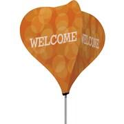 Metrix™ Koi 8' The Twizla™ 4 Sided Advertising Flag, Welcome