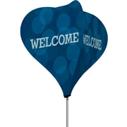 Metrix™ Monaco Blue 8' The Twizla™ 4 Sided Advertising Flag, Welcome