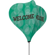 Metrix™ Emerald 8' The Twizla™ 4 Sided Advertising Flag, Welcome