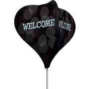 Metrix™ Black 8' The Twizla™ 4 Sided Advertising Flag, Welcome