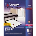 Avery Print-On Presentation Dividers, 8 Tab, White Tab, 1 Set, Laser/ InkJet