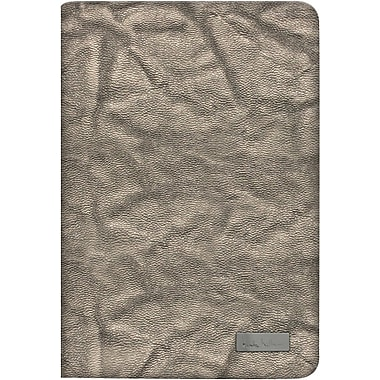 Nicole Miller Slim Portfolio Case w/ Hard Snap-On Holder for iPad Mini, Silver