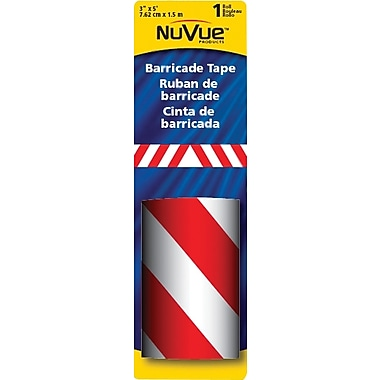 NuVue Red & White Barricade Stripe, 3