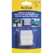 """NuVue White Reflective Tape, 1 1/2"""" x 8' Roll"""