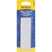 """NuVue White Reflective Tape, 1 1/2"""" x 4 1/2"""" Rectangles, 12/Set"""