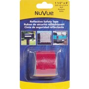 """NuVue Red Reflective Tape, 1 1/2"""" x 8' Rolls, 2/Set"""
