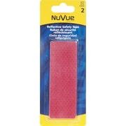 """NuVue Red Reflective Tape, 1 1/2"""" x 4-1/2"""" Rectangles, 12/Set"""