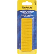 """NuVue Amber Reflective Tape, 1 1/2"""" x 4 1/2"""" Rectangles, 12/Set"""