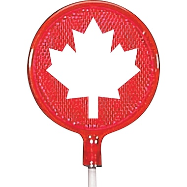 NuVue Red Driveway Marker with White Maple Leaf, 46