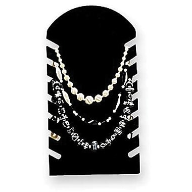 7 Chain Gloss Acrylic Necklace Display, Black