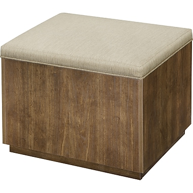 Whalen Reed Collection Ottoman, Walnut