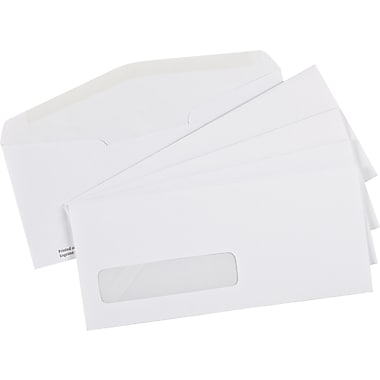 Staples® Envelopes White Premium Window #10, 4-1/8