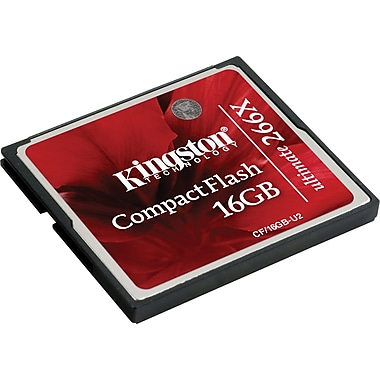 Kingston® 266x Ultimate CompactFlash Card, 16GB