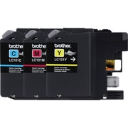 Brother LC101 C/M/Y Color Ink Cartridges (LC1013PKS), 3/Pack