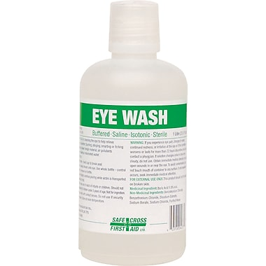 Safe Cross First Aid Eye Wash Station Refill, 1 Litre