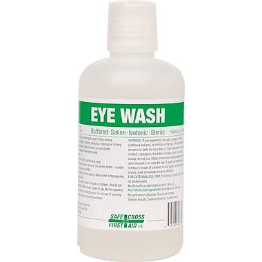 Safe Cross – Recharge pour poste de lavage oculaire d'urgence, 1 L