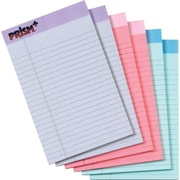 "TOPS® Prism+ Notepad, 5"" x 8"", Junior Legal Rule, Pink/Orchid/Blue, 100% Recycled, 50 Sheets/Pad, 6 Pads/Pack (63016)"