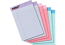 TOPS® Prism+ Notepad, 5' x 8', Junior Legal Rule, Pink/Orchid/Blue, 100% Recycled, 50 Sheets/Pad, 6 Pads/Pack (63016)