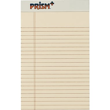 Prism+™ Legal Notepad, jr. Legal Rule, Ivory, Perforated, Rigid Back, 50 Sheets/Pad, 12 Pads/Pack, 5in. x 8in.