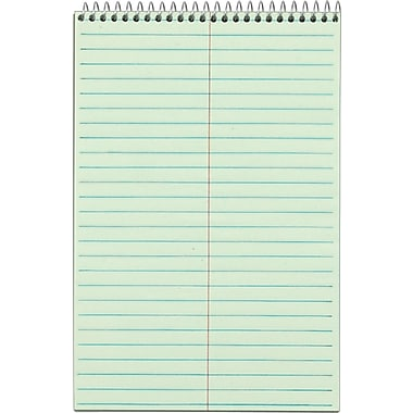 TOPS® Steno Pads, Green Tint, 6in.x9in.