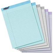 "TOPS® Prism+ Notepad, 8-1/2"" x 11-3/4"", Legal Rule, Gray/Orchid/Blue, 100% Recycled, 50 Sheets/Pad, 6 Pads/Pack (63116)"