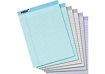 TOPS® Prism+ Notepad, 8-1/2' x 11-3/4', Legal Rule, Gray/Orchid/Blue, 100% Recycled, 50 Sheets/Pad, 6 Pads/Pack (63116)