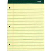 "TOPS® Double Docket Notepad, 8-1/2"" x 11-3/4"", Legal Rule, Canary, 3-Hole Punched, 100 Sheets, 6 Pads/Pack (63387)"