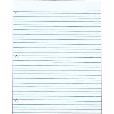The Legal Pad™ Narrow Rule, White, Gum Top, 3-Hole Punched, 50 Sheets/Pad, 12 Pads/Pack, 8-1/2in. x 11in.