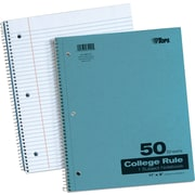 "TOPS® Kraft Wirebound Subject Notebook, 11"" x 9"", College Ruling, White, 50 Sheets (65120)"