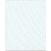 "TOPS® Quadrille Pad, White, Quad Ruled, 8 1/2"" x 11"", 50 Sheets/Pad, 1/Ea"