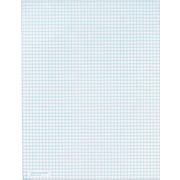 "Quadrille Notepad, White, 5 Sq/In, 20 lb, 50 Sheets/Pad, 8-1/2"" x 11"""