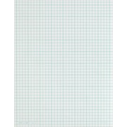 "Cross Section Notepad, 4 Sq/In, 50 Sheets/Pad, 8-1/2"" x 11"""