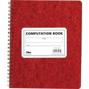 "TOPS® Computation Wirebound Notebook, 11 3/4"" x 9 1/2"", Quad Ruling, 76 sheets"
