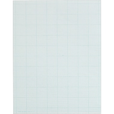 Cross Section Notepad, 10 Sq/In, 50 Sheets/Pad, 8-1/2in. x 11in.