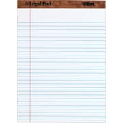 "TOPS™ The Legal Pad™ Legal Pad, 8-1/2"" x 11-3/4"", Perforated, White, Legal/Wide Rule, 50 Sheets per Pad, 12 Pads per Pack"