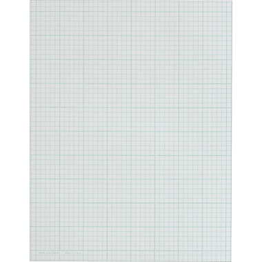 Cross Section Notepad, 5 Sq/In, 50 Sheets/Pad, 8-1/2in. x 11in.