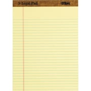 "TOPS™ The Legal Pad™ Legal Pad, 8-1/2"" x 11-3/4,  Yellow, Legal/Wide Rule, 50 Sheets per Pad, 12 Pads per Pack (7532)"