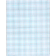 "TOPS® Notepad, 8-1/2"" x 11"", 6 Sq/In Quadrille Rule, White, 20 lb, 50 Sheets/Pad (33061)"