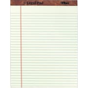 "TOPS® The Legal Pad™ Writing Pad, Green Tint, Legal Ruled, 8 1/2"" x 11 3/4"", 50 Sheets, 12/Pack"
