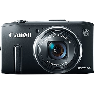 Canon PowerShot SX280 HS Digital Camera, Black