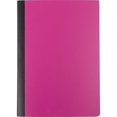 Staples® Mini Poly Composition Notebook, Pink, 5in. x 7in.