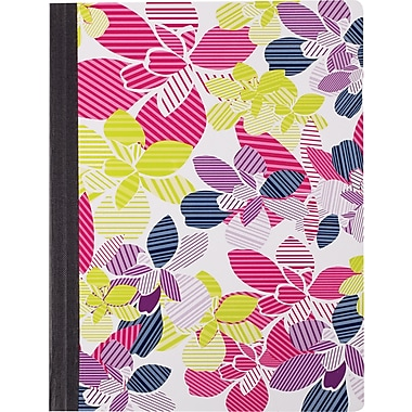 Staples® Fashion Composition Book, Floral, 9 3/4