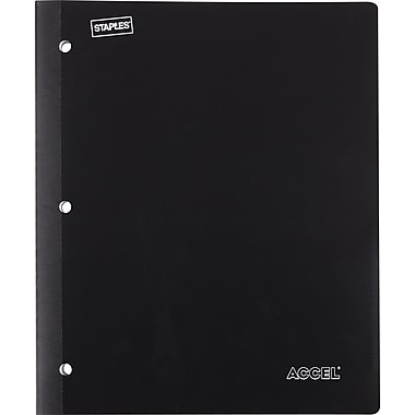 Staples® Poly Wireless Notebook, Black, 8 1/2in. x 11in.