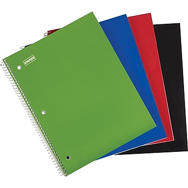 Staples® 1 Subject Notebook, 8-1/2in. x 11in., College Ruled
