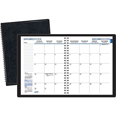 2014 Staples® Recycled Monthly Planner, 6 7/8in. x 8 3/4in.
