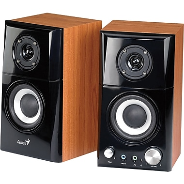 Genius Two-Way Hi-Fi Wood Speakers, 14 Watts