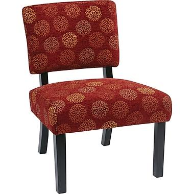 Office Star Avenue Six® Wood Jasmine Accent Chair, Blossom Wine