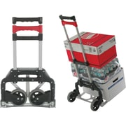 Magna Cart Personal Hand Truck, 150 lbs., Silver/Black/Red (109231)