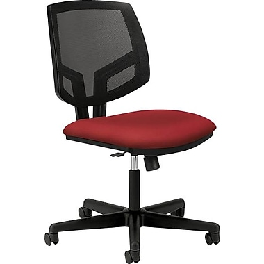 HON Volt Series Armless Task Chair, Mesh Back, Crimson